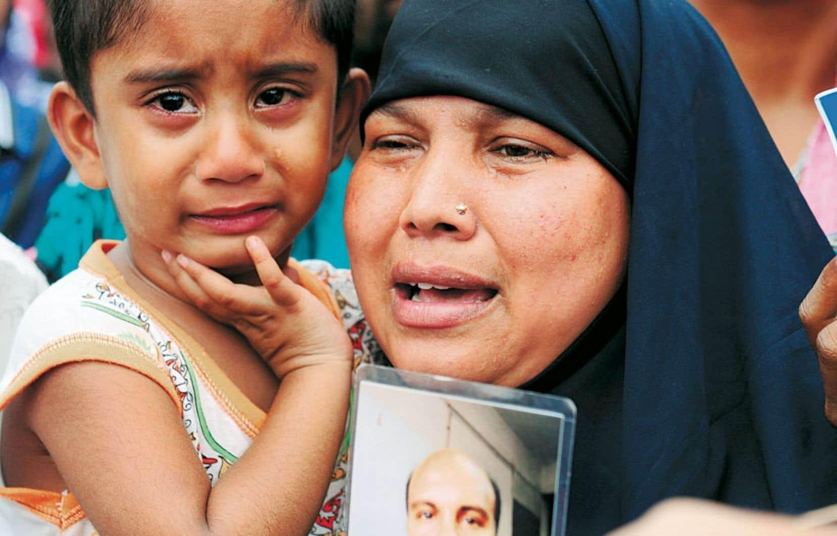 <div> Une femme a perdu son mari, une enfant, son père.</div>
