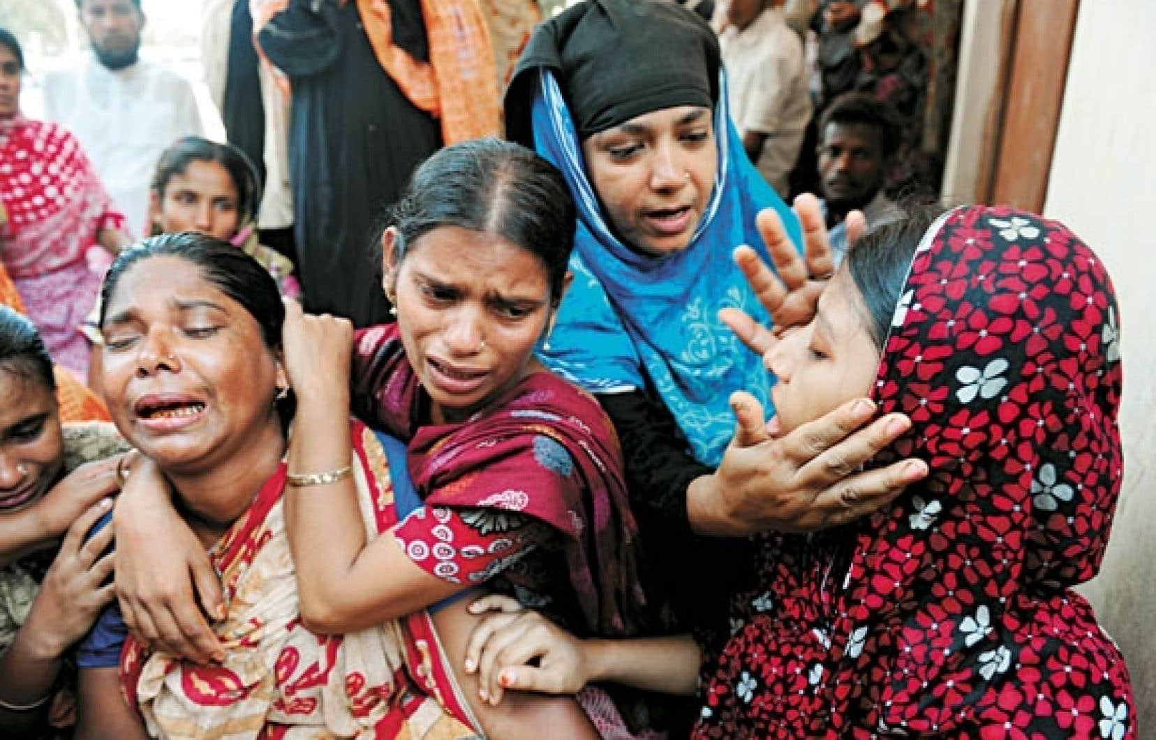 <div> Une famille vient d'identifier le corps d'un des siens parmi les quelque 500 victimes de l'effondrement.</div>