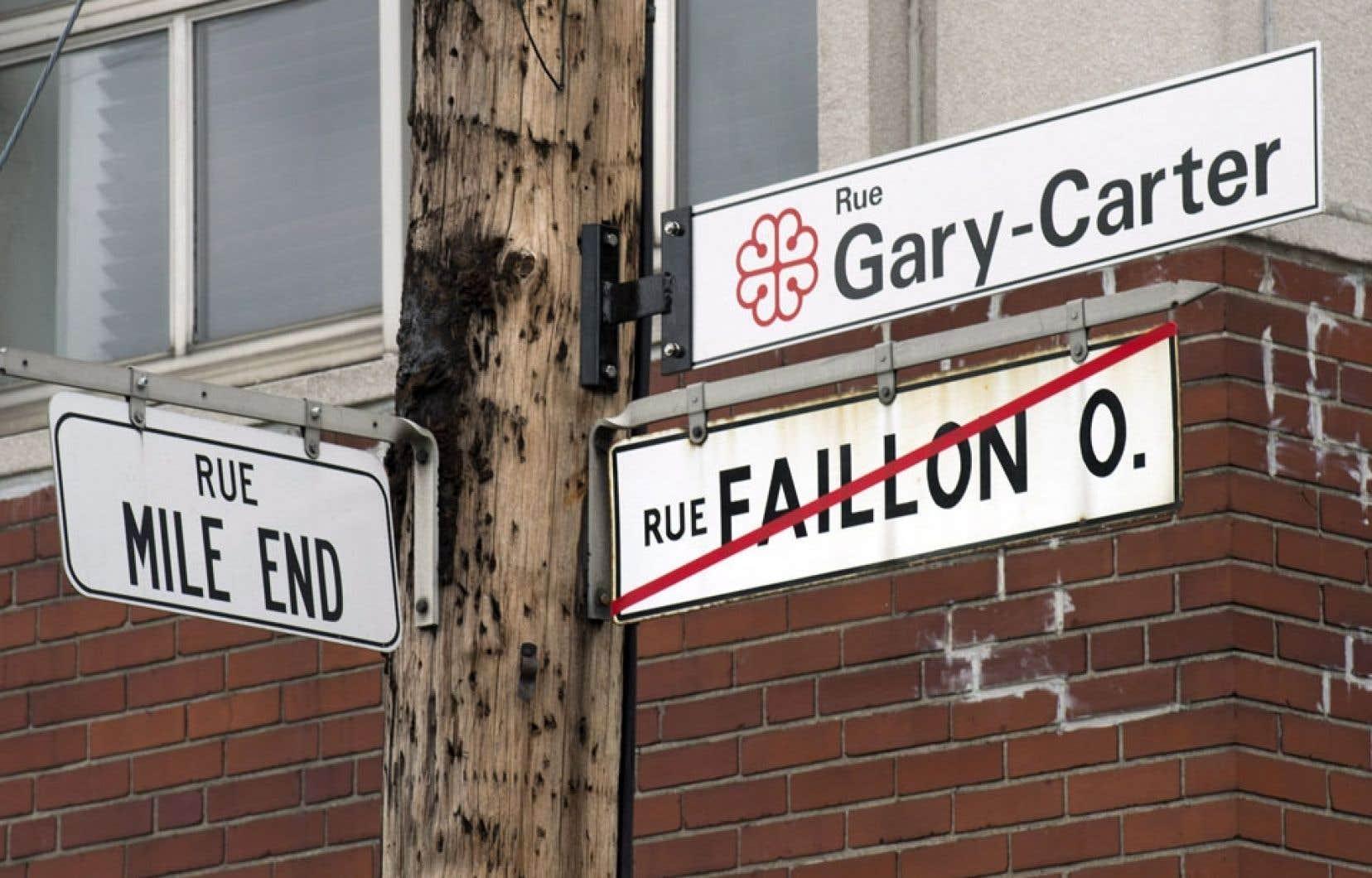 Un hommage à Gary Carter est désormais rendu aux abords du parc Jarry.