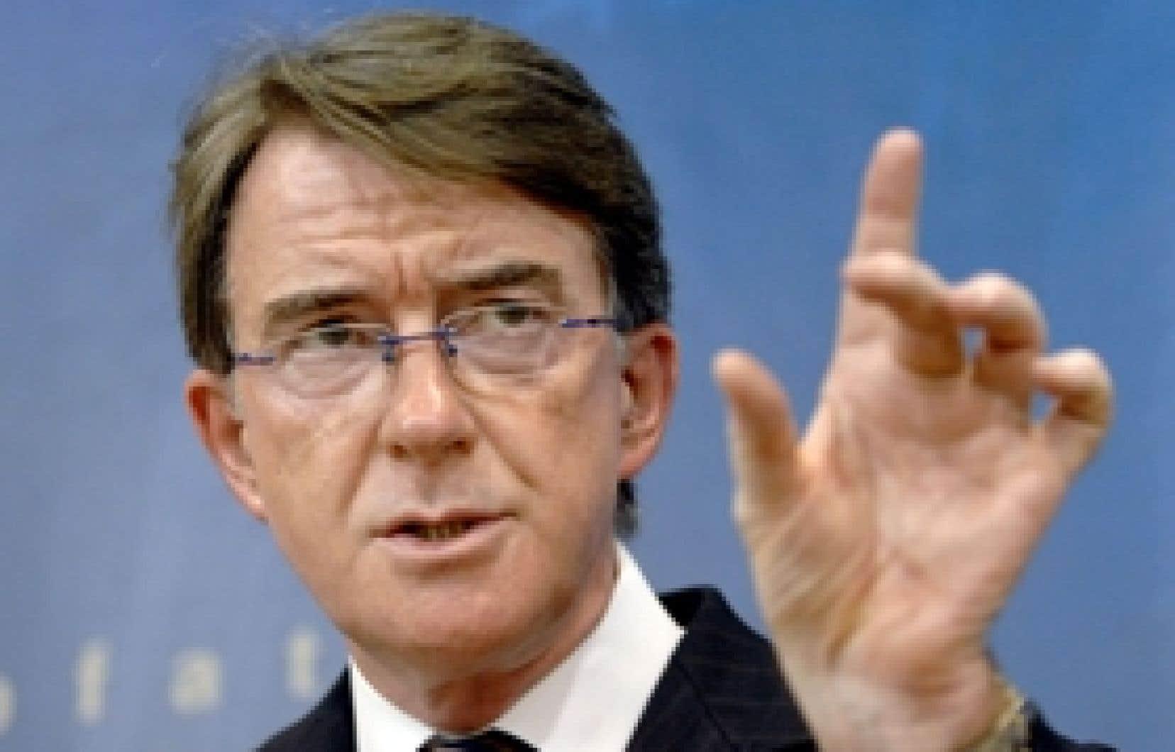 «Sur le plan diplomatique, l'Europe est en forte position. Nous sommes vus comme les grands champions de ce processus multilatéral», a déclaré le commissaire européen au Commerce, Peter Mandelson, aux ministres des Affaires étrangères des 27 r