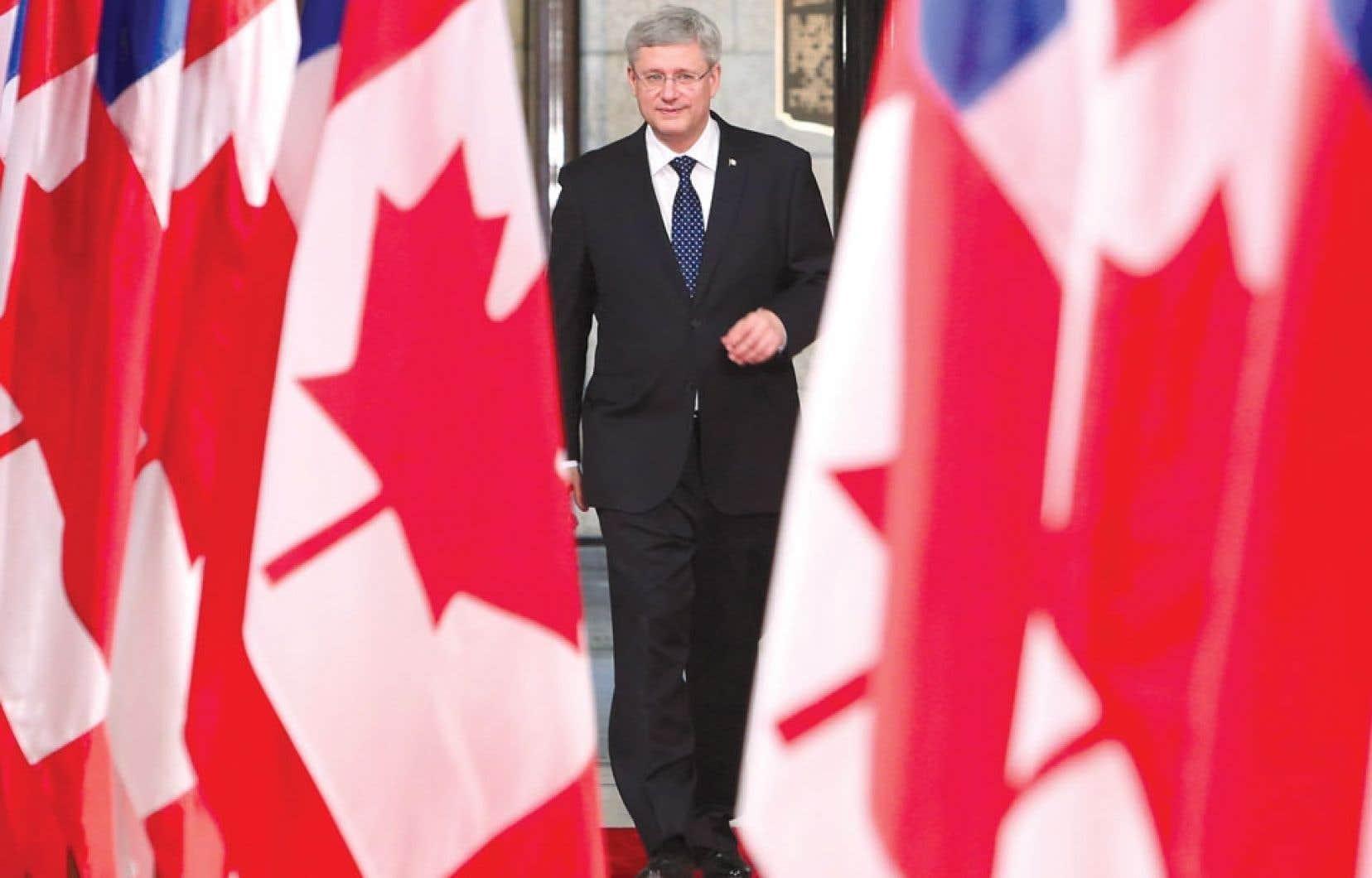En point de presse à la suite d'une visite du président chilien, le premier ministre Stephen Harper a de nouveau éludé les questions au sujet du sénateur Mike Duffy.