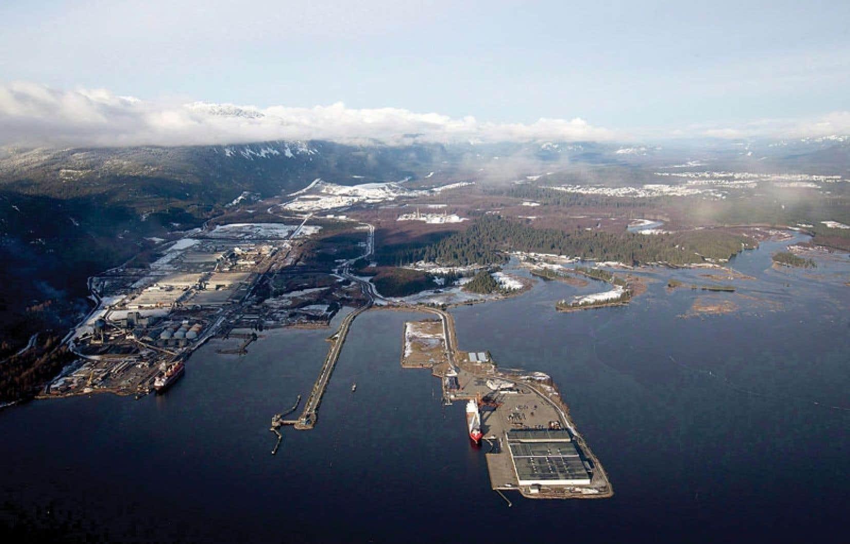 Douglas Channel est le point d'arrivée proposé du pipeline Northern Gateway à Kitimat, en Colombie-Britannique.