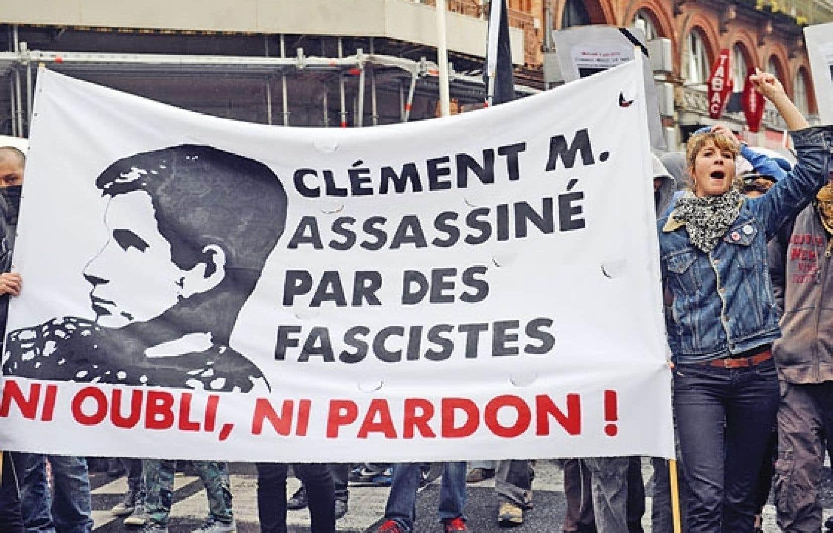 Le meurtre du jeune Clément Méric a suscité de vives réactions, et des manifestations ont eu lieu à sa mémoire en France.