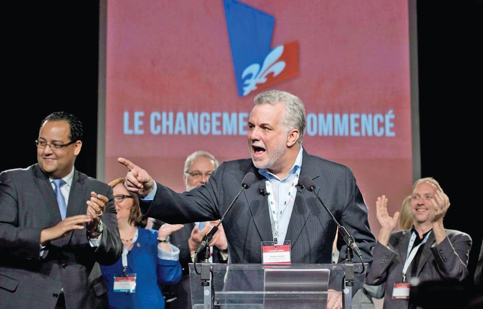 Le rassemblement de samedi était le premier de cette envergure depuis que Philippe Couillard a pris la tête du PLQ.