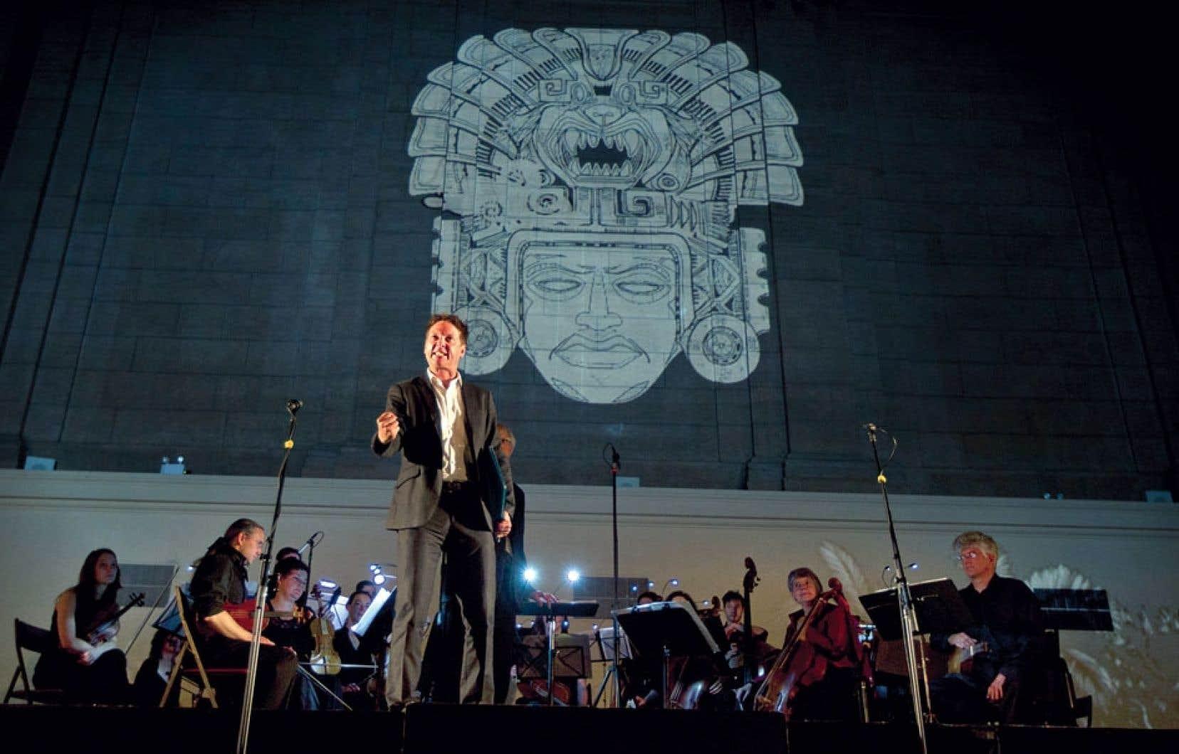 Le Motezuma de Vivaldi doté de sympathiques projections revivait dans le cadre du festival Montréal baroque.