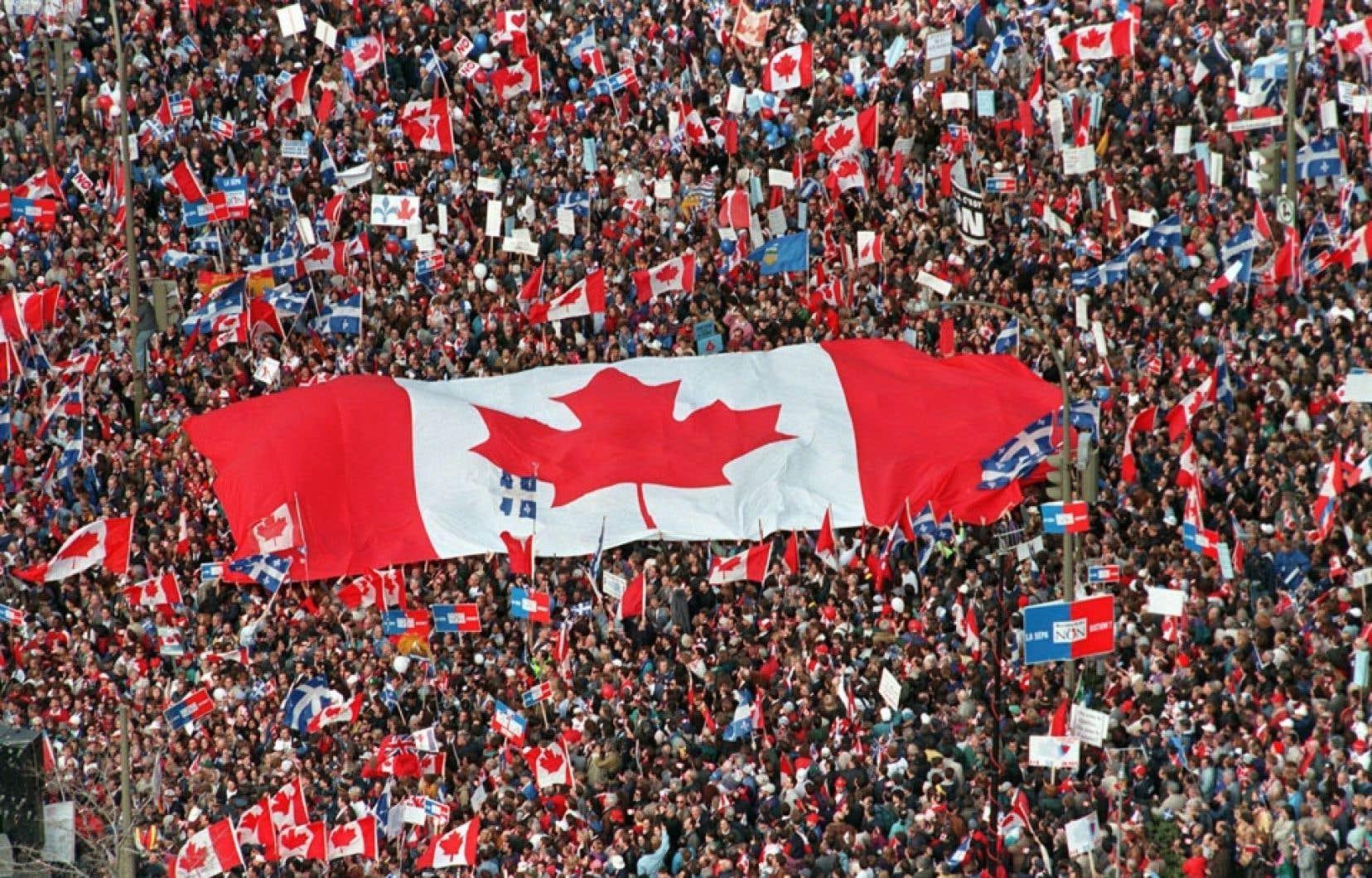 Le 27 octobre 1995, des milliers de Canadiens partisans du Non au référendum québécois ont convergé vers Montréal. Si on lit ce qu'ils écrivent sur nous, sur notre société, sur la honte et le mépris qu'ils nourrissent à notre endroit, et sur le fardeau économique que nous représentons pour le Canada, on peut pourtant se demander pourquoi les Canadiens anglais s'opposent à l'indépendance du Québec, estime l'auteur.