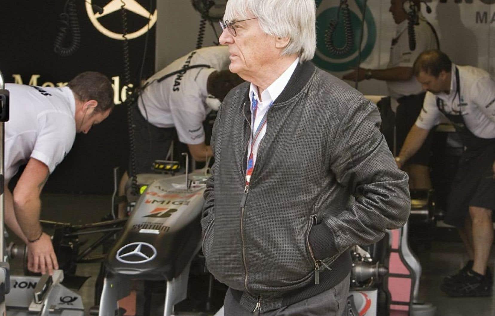 Bernie Ecclestone, photographié il y a quelques années au Grand-Prix du Canada, à Montréal.