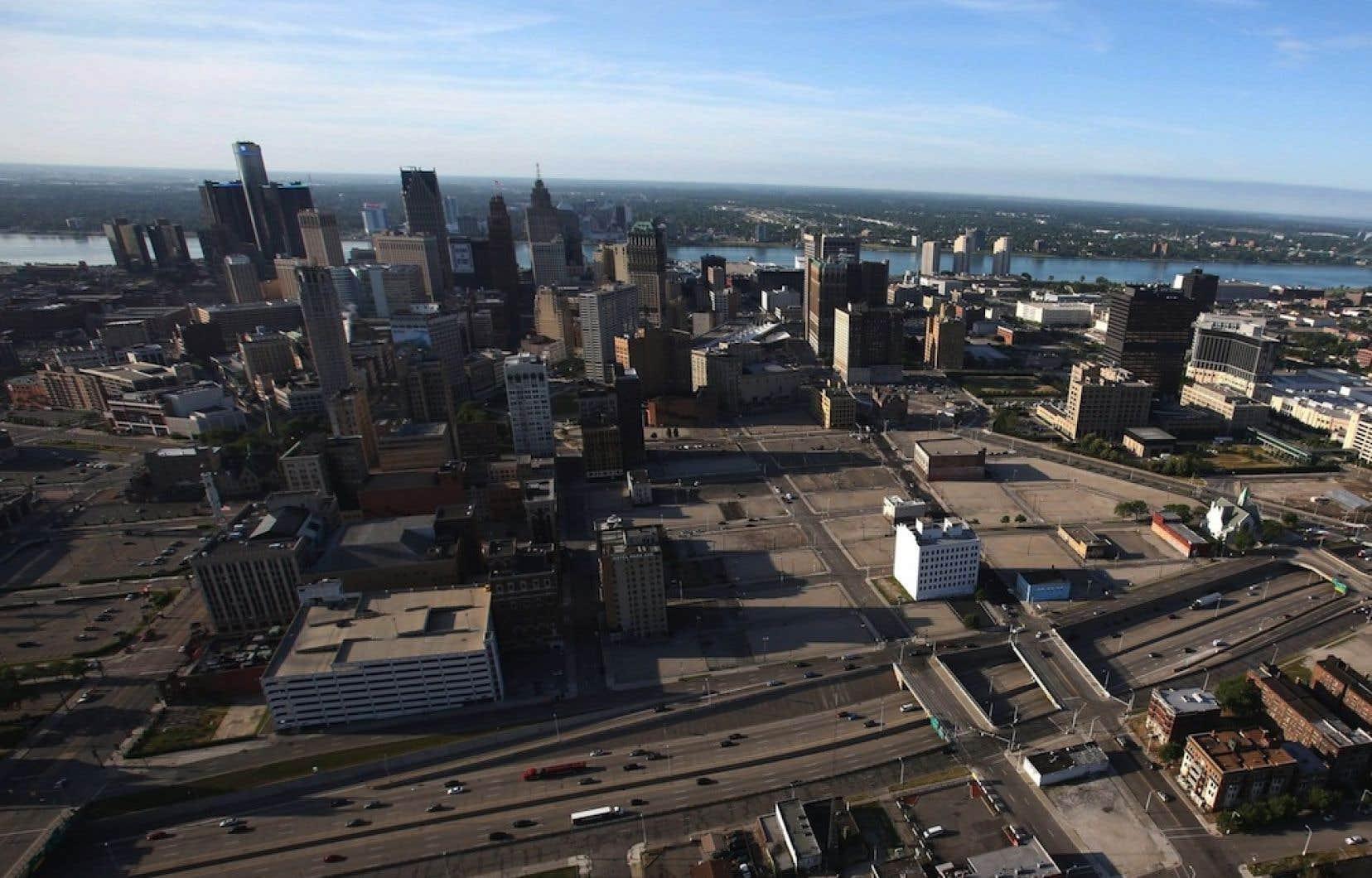 La ville de Détroit.