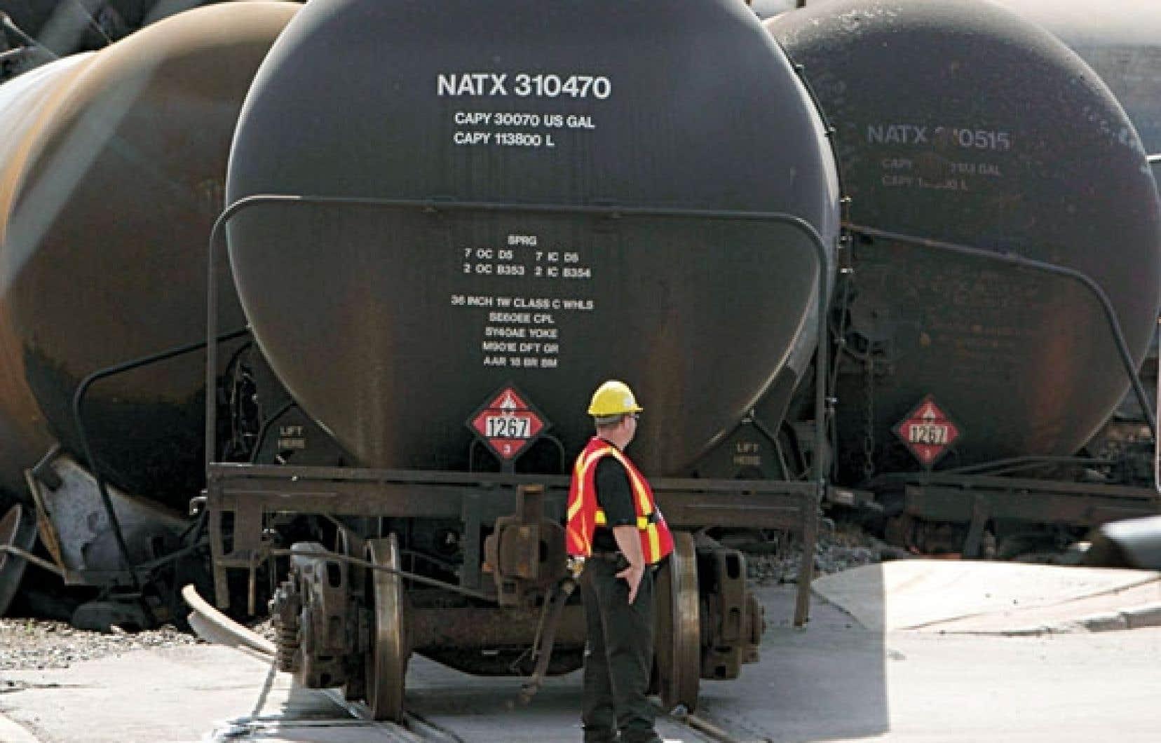 L'accroissement du transport de pétrole par train est dû à une hausse marquée de la production au cœur de l'Amérique du Nord.