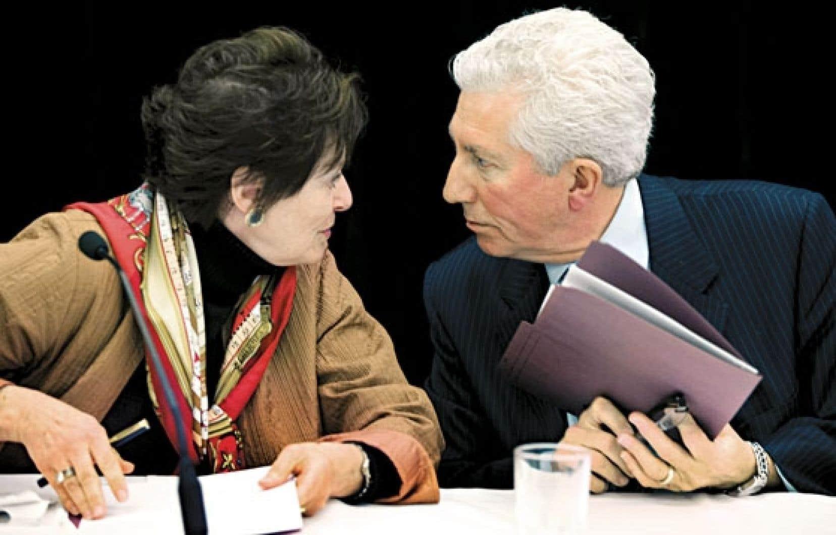 Gilles Duceppe et Rita Dionne-Marsolais ont clos la première étape de la consultation. Les audiences publiques commencent lundi.