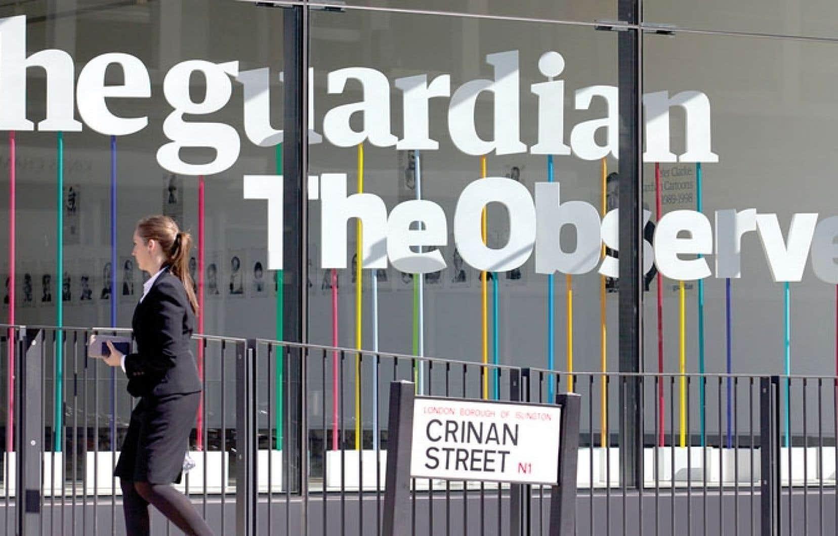 Les bureaux du quotidien TheGuardian à Londres