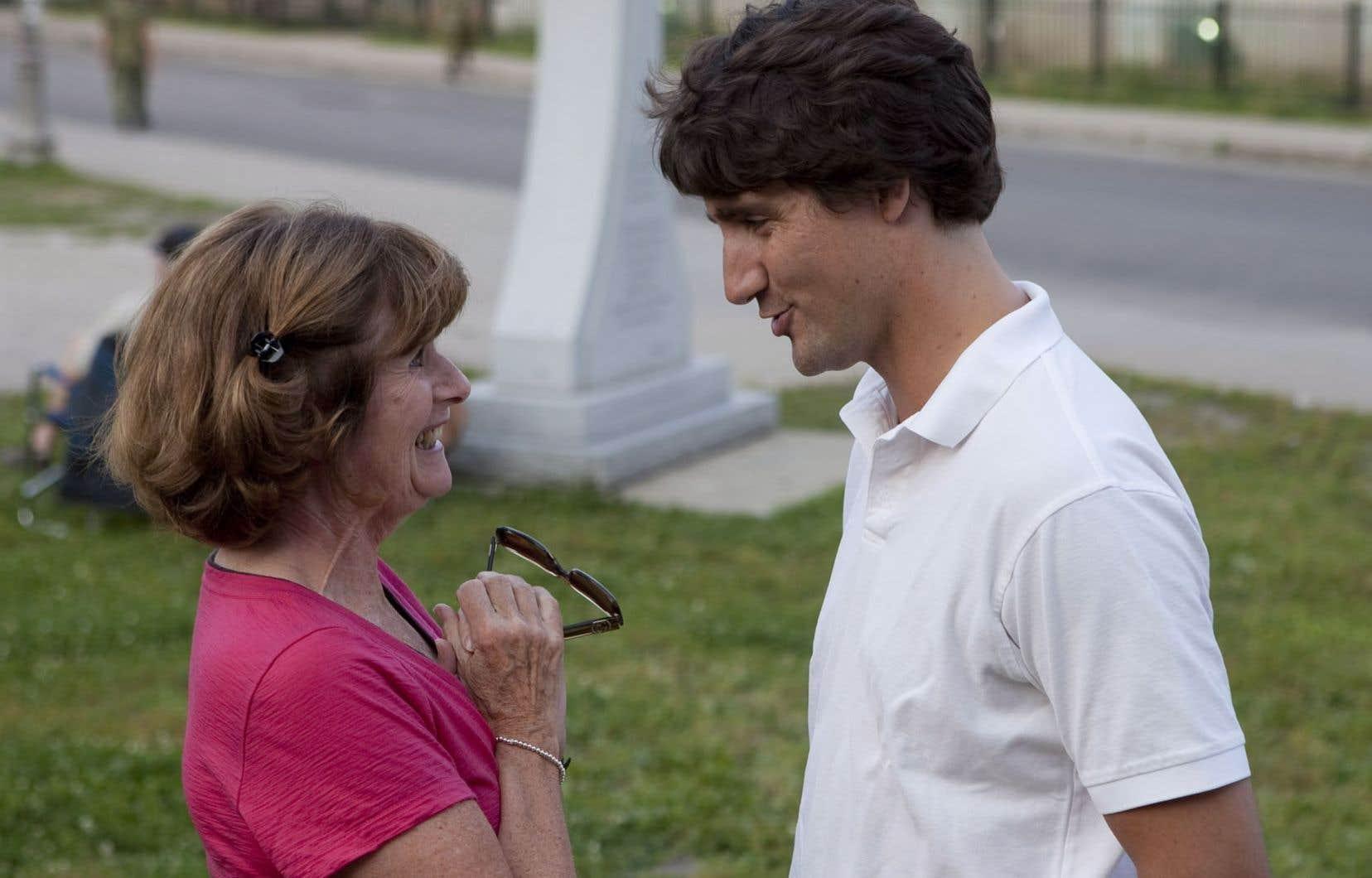 De passage à Québec, Justin Trudeau a rencontré des gens au Festival de musique militaire.