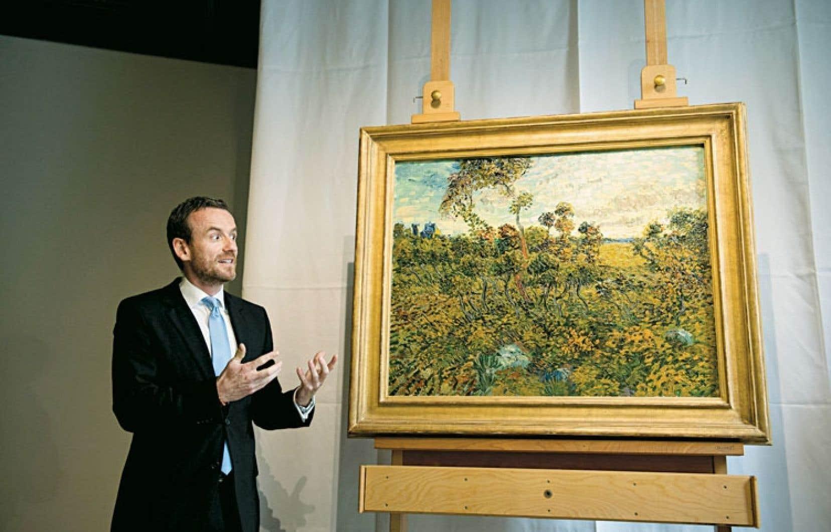 Le directeur du Musée Van Gogh, à Amsterdam, dévoile l'œuvre qui y sera exposée dès le 24 septembre.