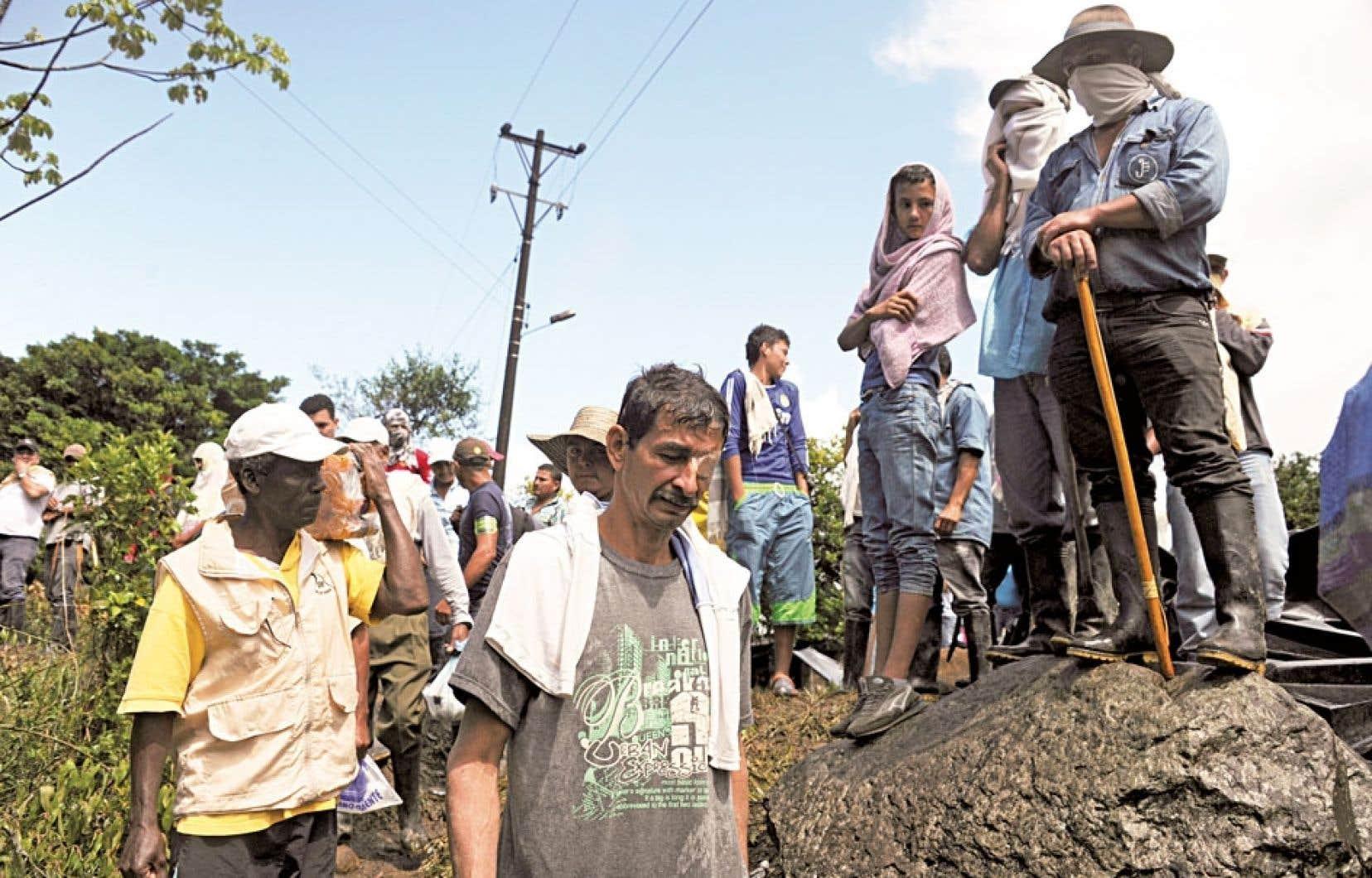 Dans un geste rare en Colombie, la solidarité a été forte dans le pays avec le mouvement paysan.