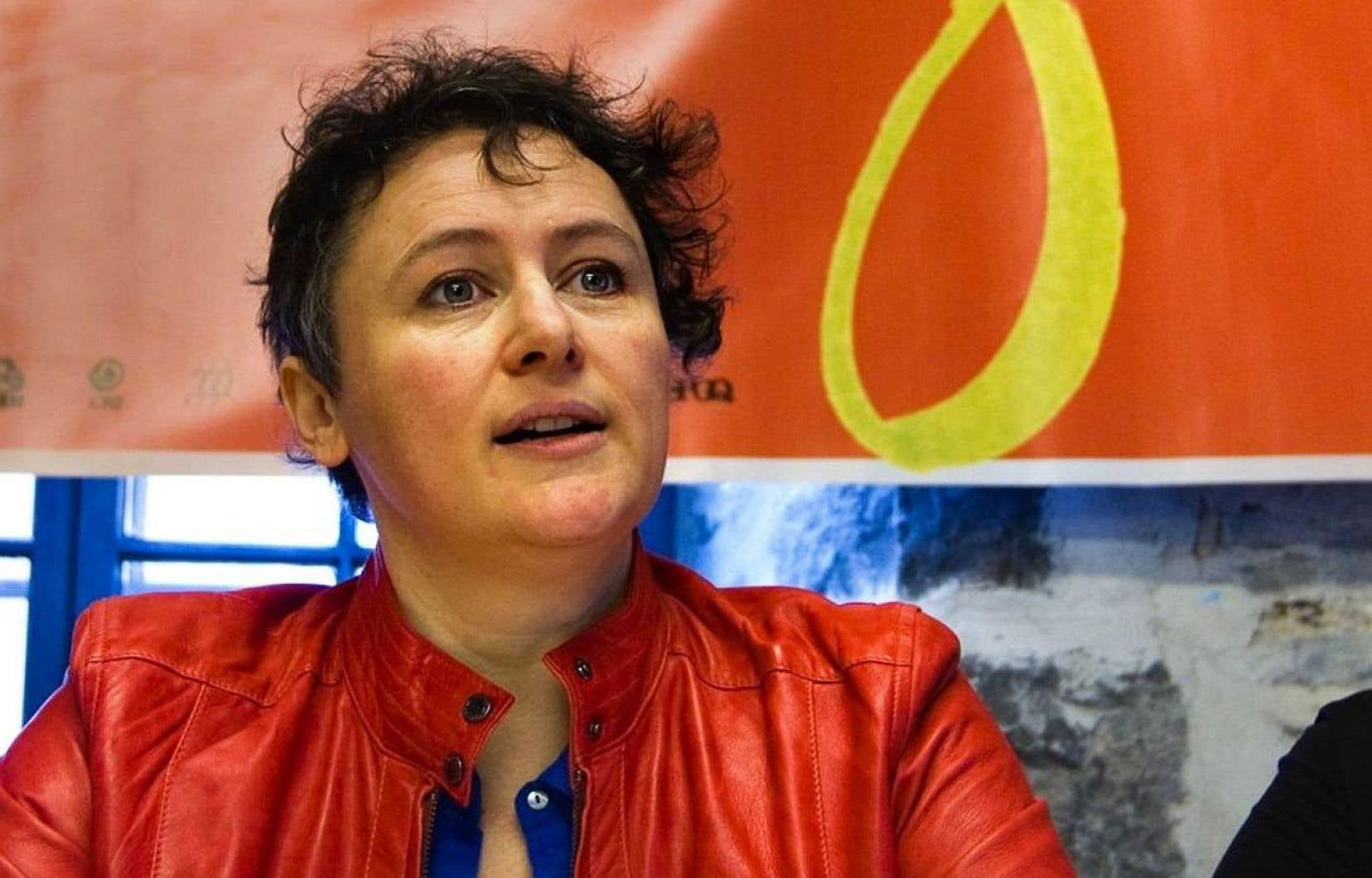 La présidente de la Fédération des femmes du Québec, Alexa Conradi