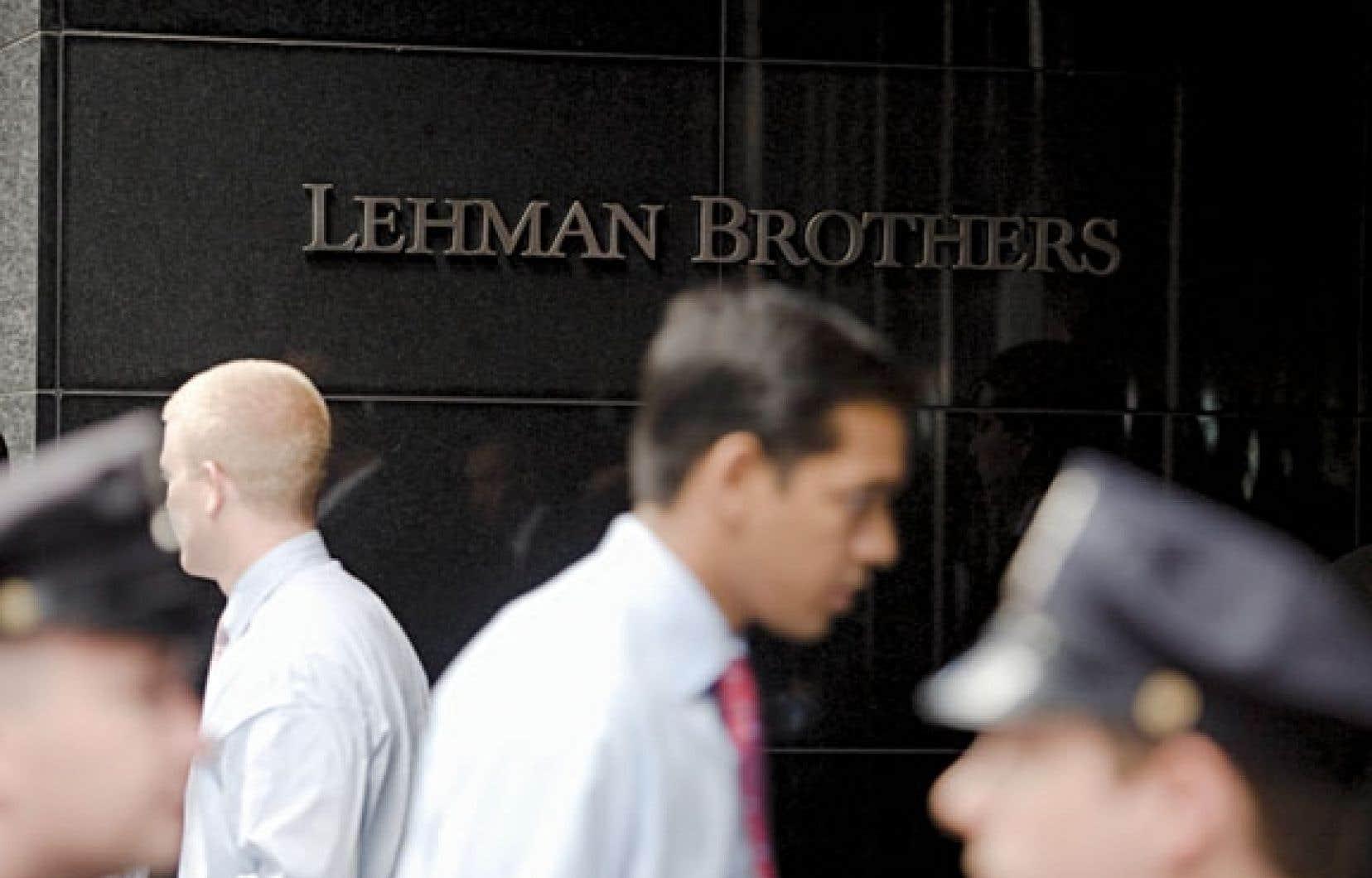 La faillite de Lehman Brothers a entraîné une crise financière et économique dans une bonne partie du monde.