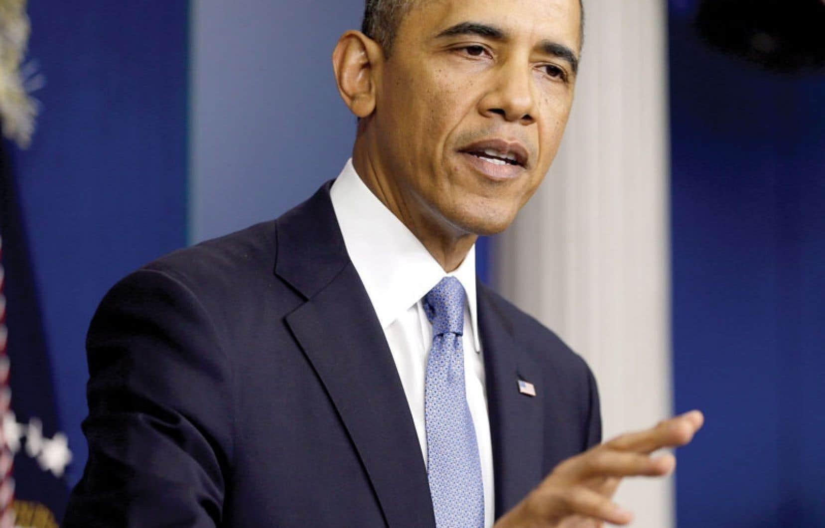 Lors d'un point de presse en après-midi, lundi, Barack Obama a reproché aux républicains de mettre en péril la fragile reprise économique aux États-Unis.