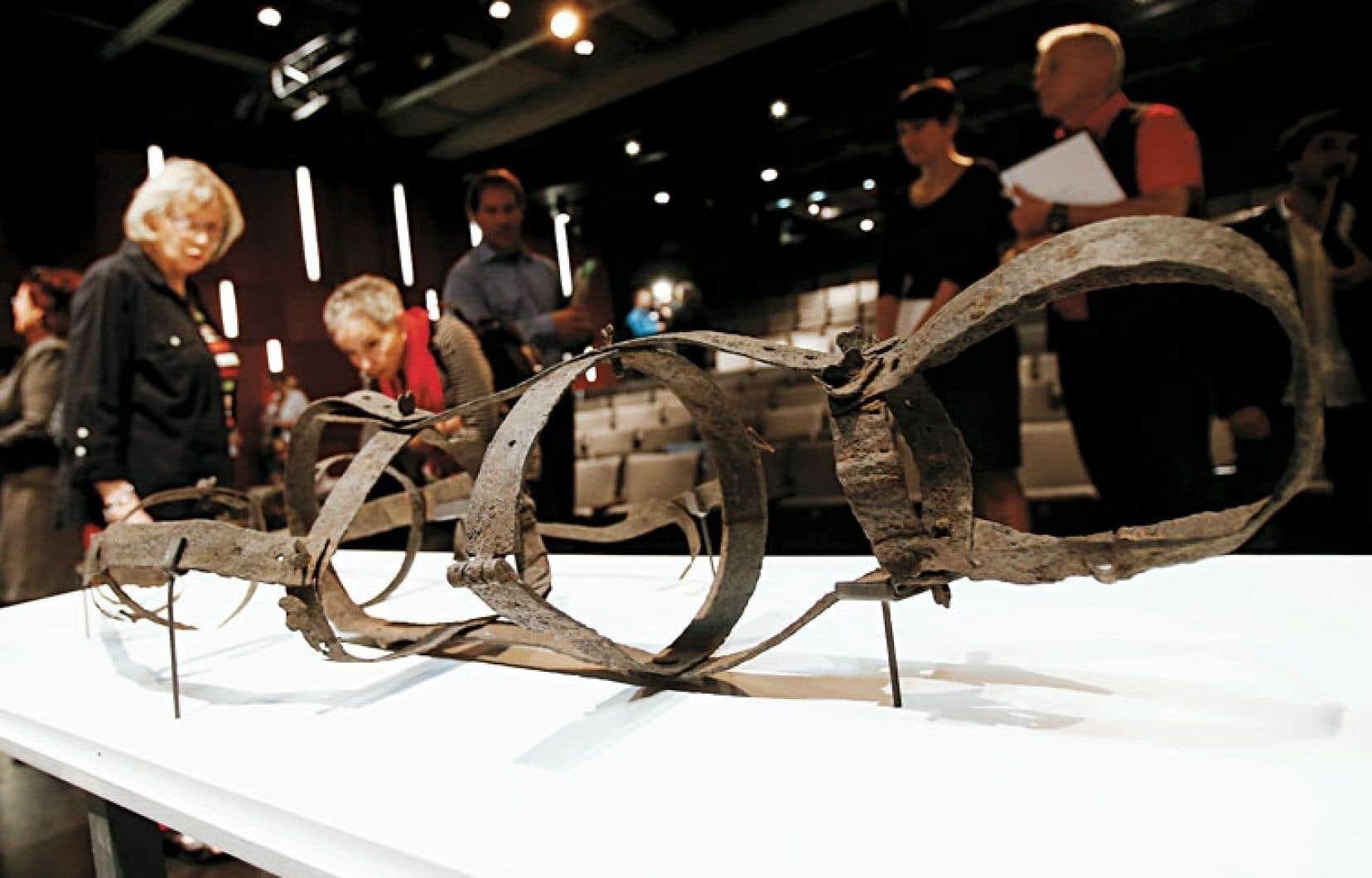 L'exosquelette de la Corriveau se trouve pour deux ans aux Musées de la civilisation, à Québec.