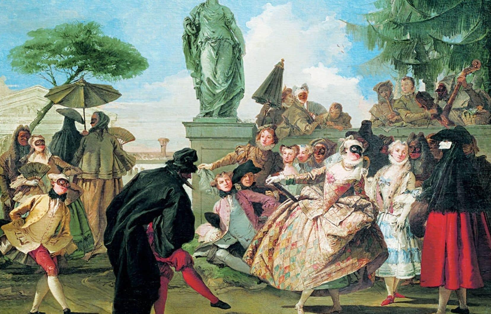 Giandomenico Tiepolo, Le menuet, 1756, Barcelone, Museu Nacional d'Art de Catalunya.