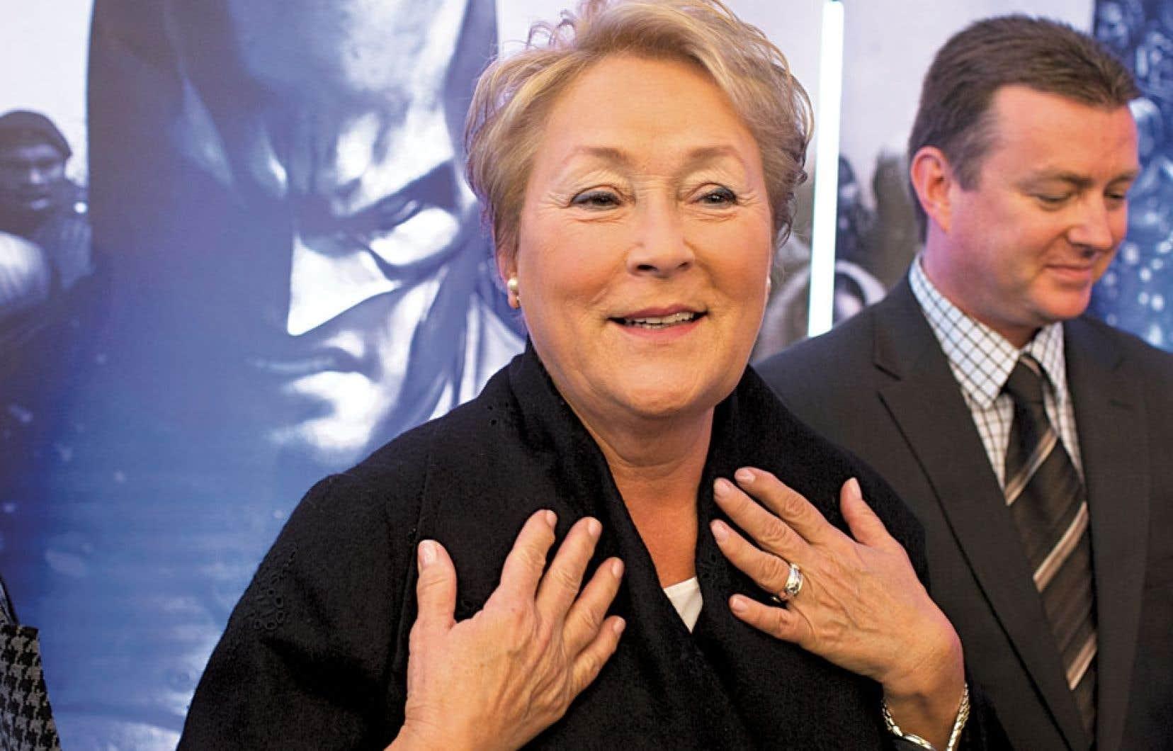 La première ministre Pauline Marois et le patron de Jeux WB Montréal, Martin Tremblay