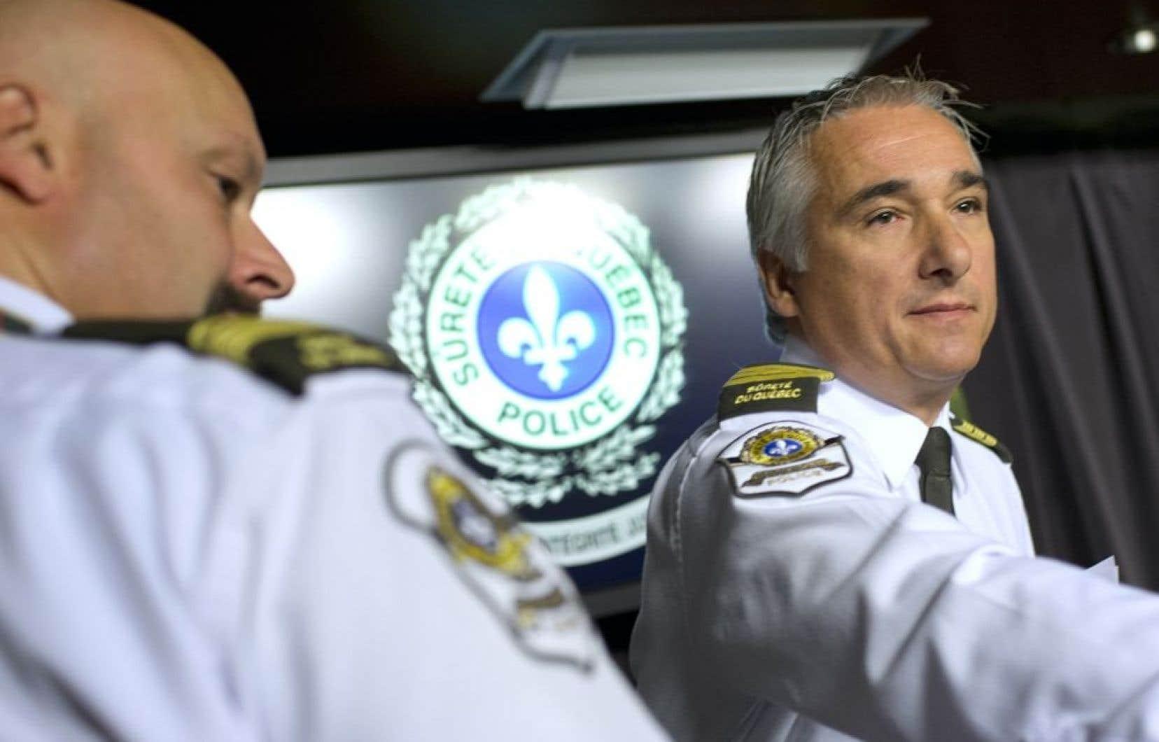 L'inspecteur Michel Forget, responsable des communications de la SQ.