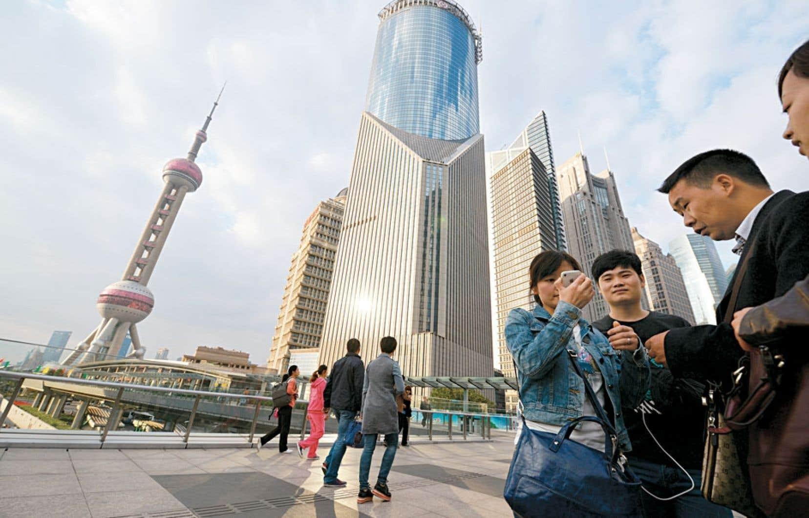 Le district financier de la ville chinoise de Shanghai, une mégapole comptant 23 millions d'habitants.