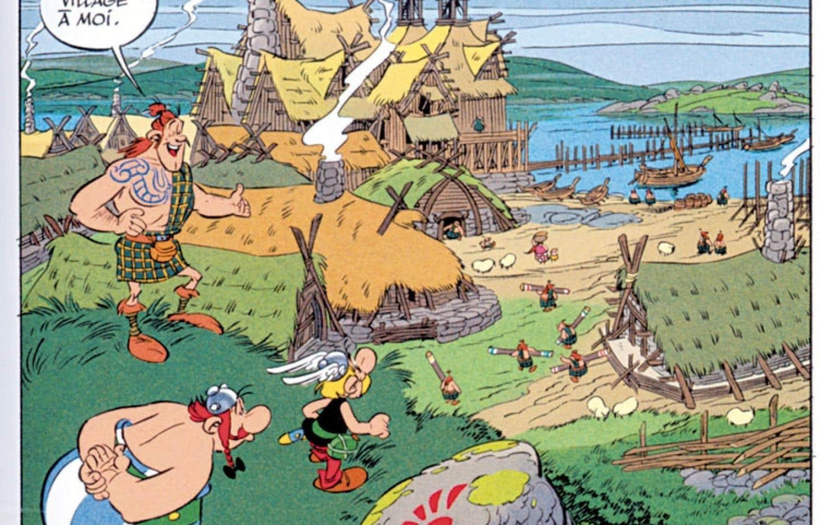 Astérix chez les Pictes décrit le voyage du petit guerrier et de son fidèle compagnon tailleur de menhirs, Obélix, en Écosse où s'affrontent clans écossais et, bien sûr, les incontournables Romains.