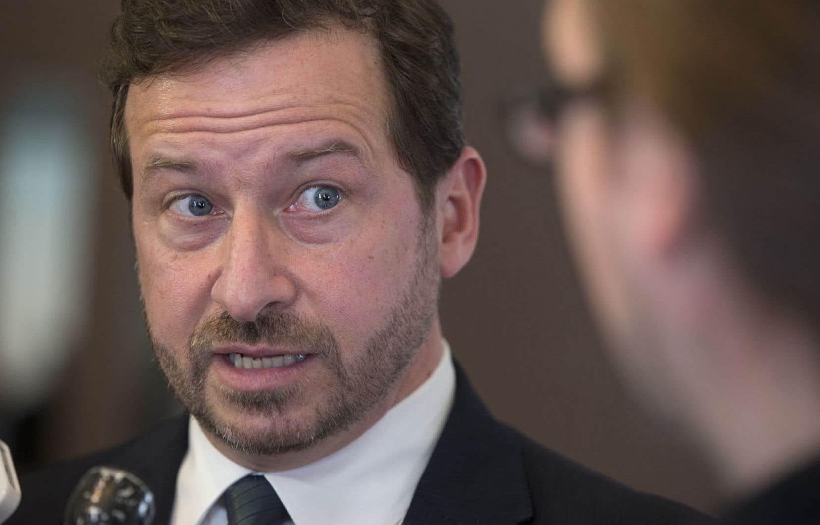 «Le message est clair. Il n'y a pas de moratoire», a affirmé le ministre de l'Environnement, Yves-François Blanchet.