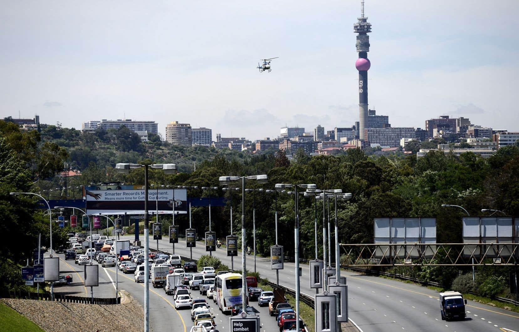 Cinq pays, dont l'Afrique du Sud, comptent pour la moitié du PIB?de l'Afrique. Ci-dessus: Johannesburg, la métropole de ce pays.