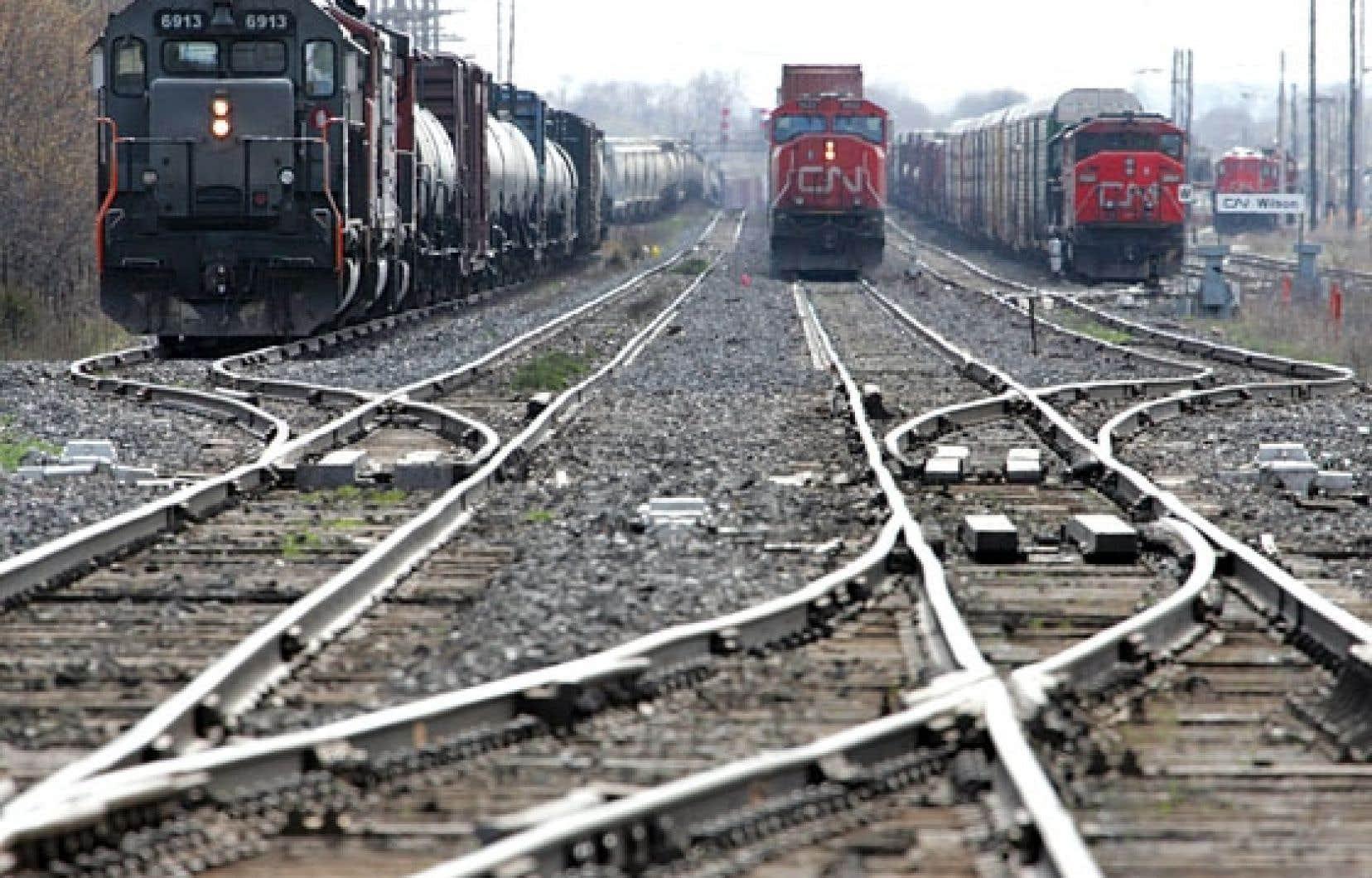 Le trafic ferroviaire a grandement augmenté au Canada depuis une dizaine d'années.