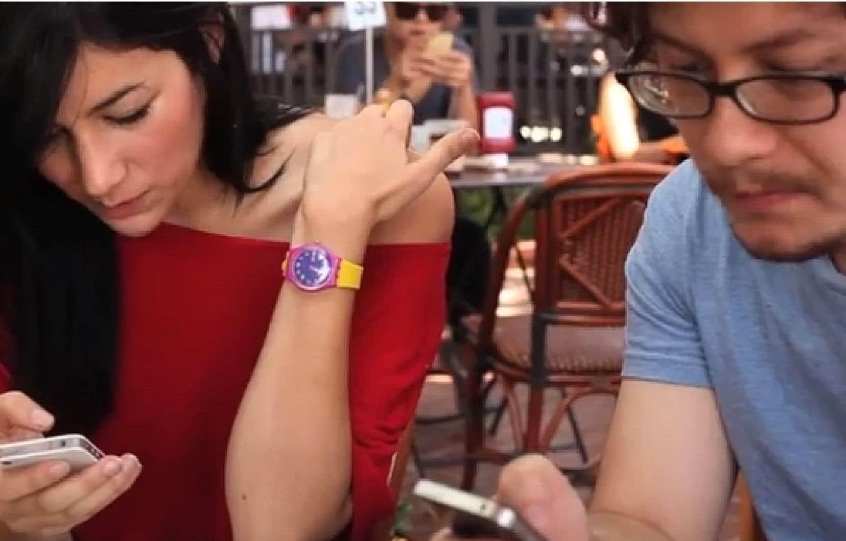Une scène tirée du film I Forgot my iPhone de Charlene deGuzman et Miles Crawford.