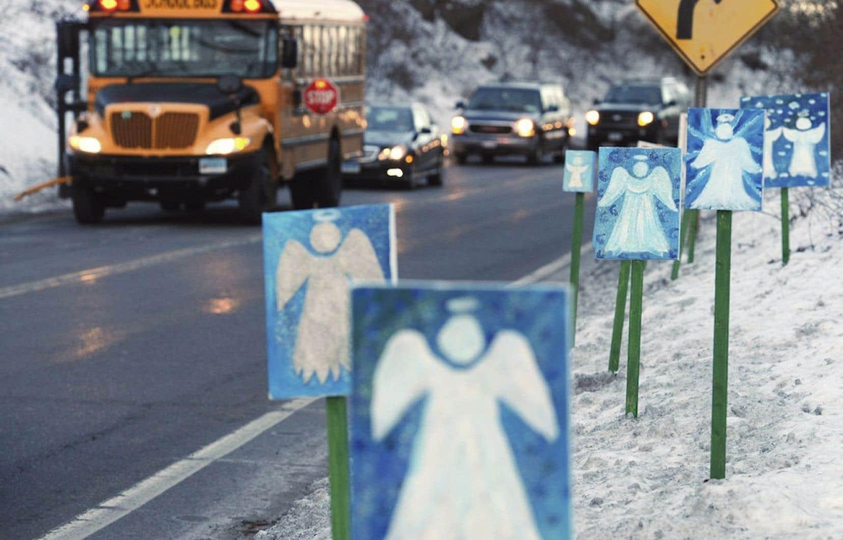 Newtown, ville tranquille de carte postale avant le drame, a depuis le drame été saturée de médias.