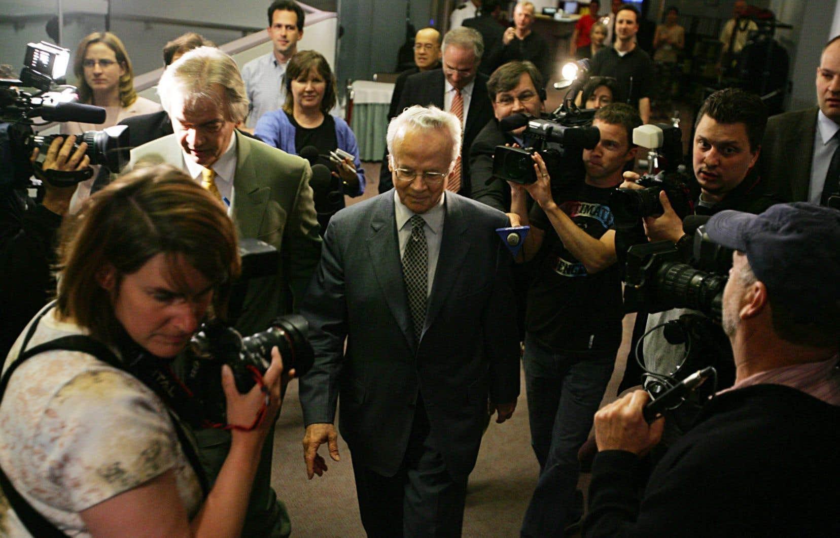 Jacques Corriveau était de passage à la commission Gomery en 2005. Huit ans plus tard, il comparaîtra devant la justice pour des accusations de fraude.