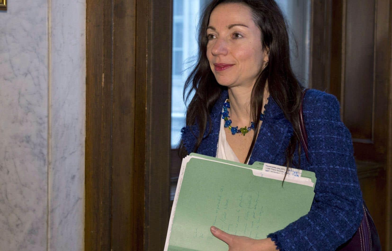 La ministre Martine Ouellet
