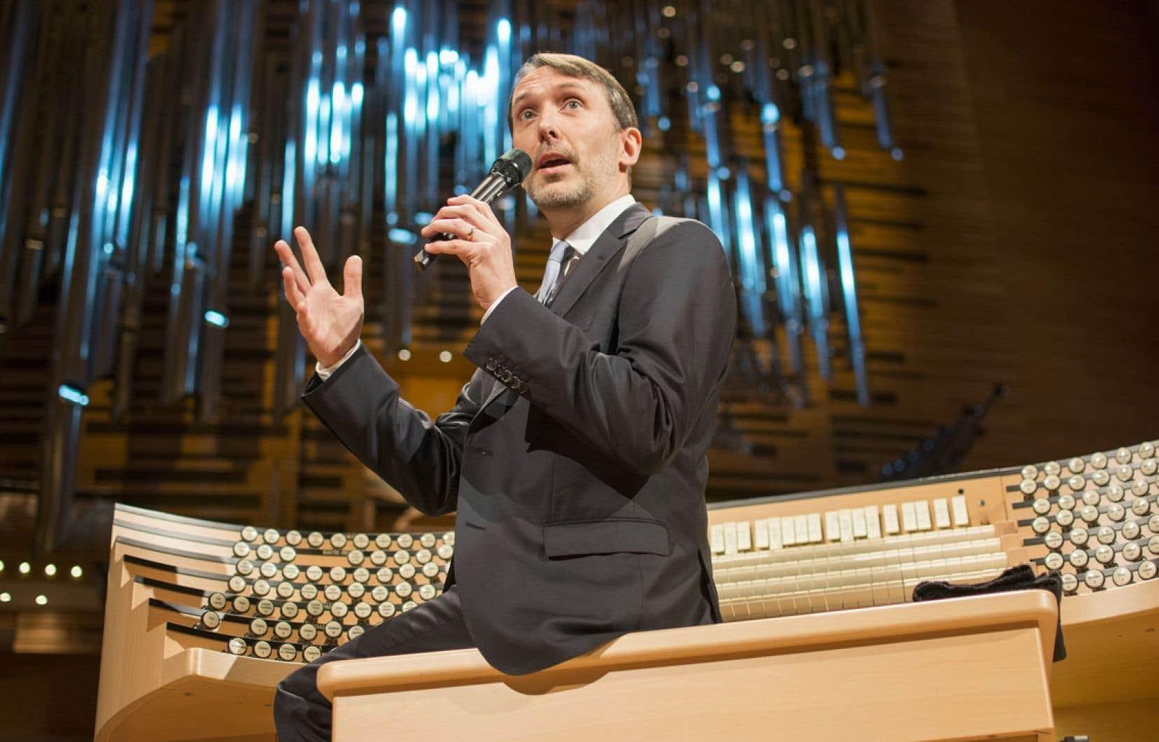 L'organiste émérite de l'OSM, Olivier Latry, dit avoir travaillé durement pour faire de cet orgue un instrument «viril» et polyvalent, adapté au jeu d'un orchestre.