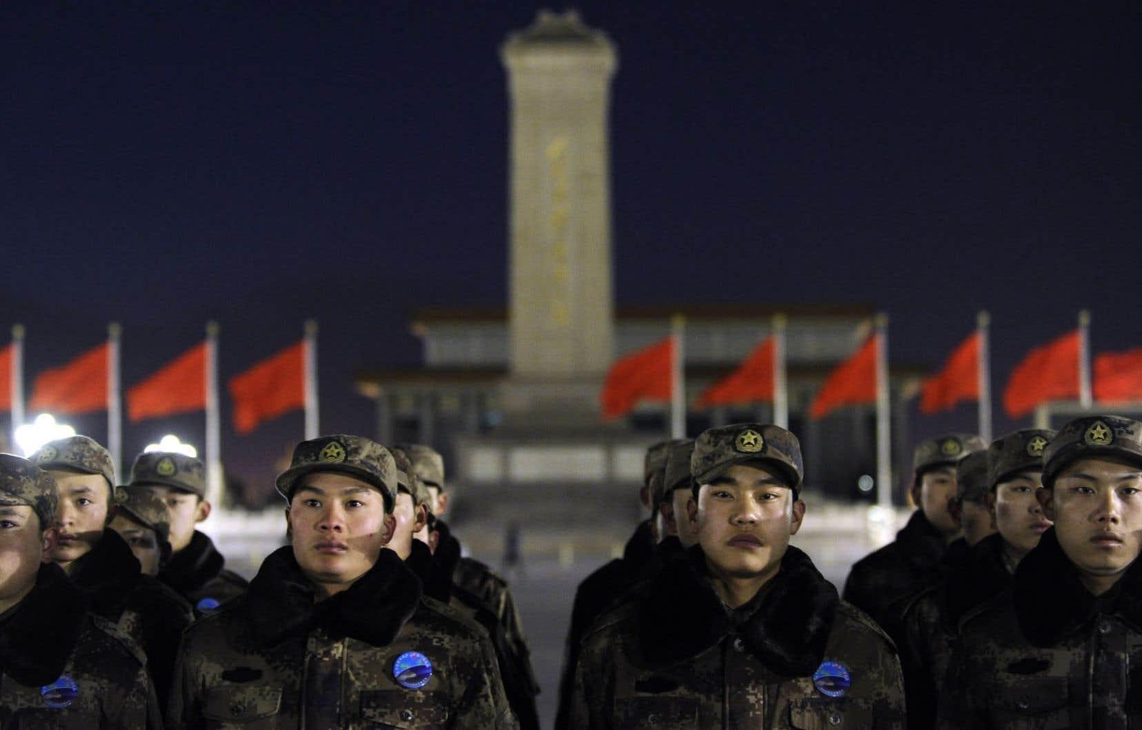 Le budget de l'armée chinoise ne cesse d'augmenter.