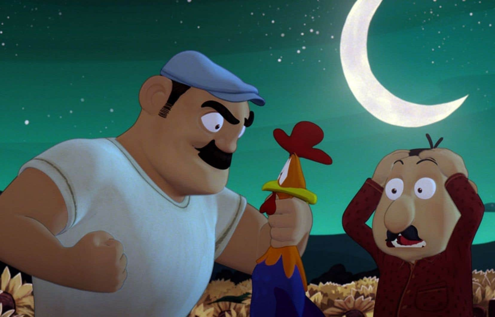 Le coq de St-Victor est un film d'animation campé dans un décor fortement inspiré de Charlevoix.