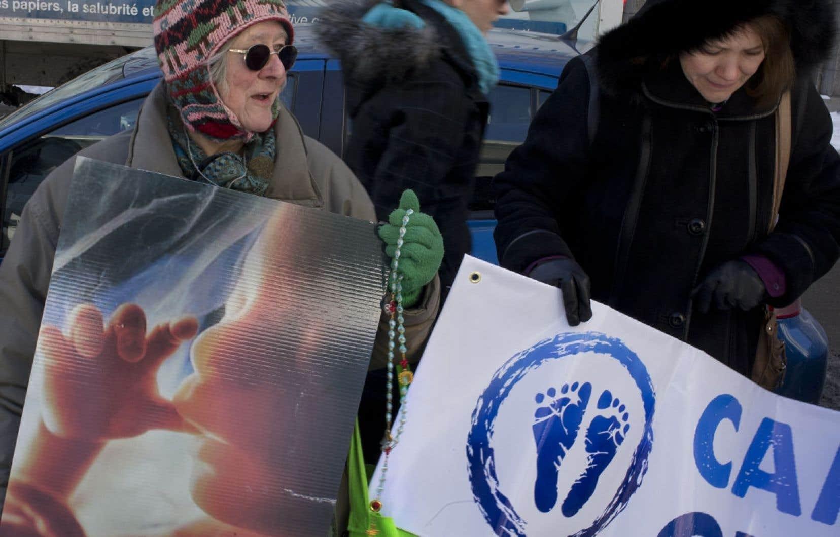 Une manifestation pro-vie s'est tenue lundi.