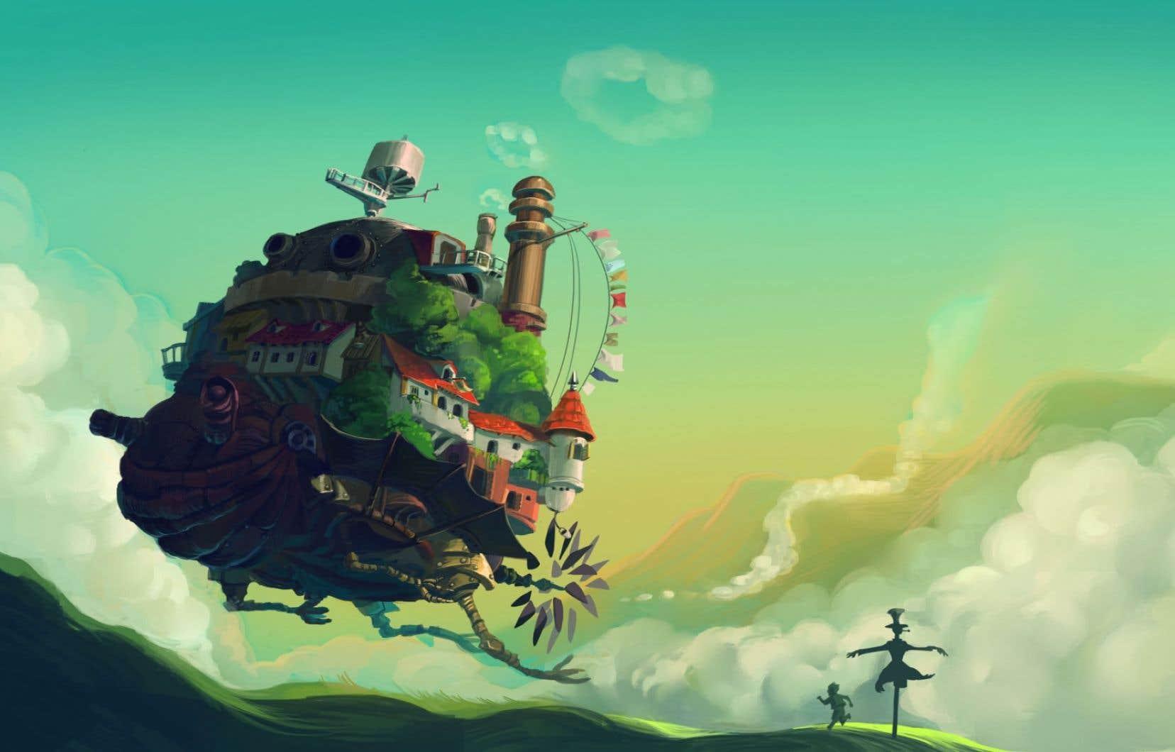 Une image du film Le château ambulant, présenté à la Mostra de Venise en 2004.