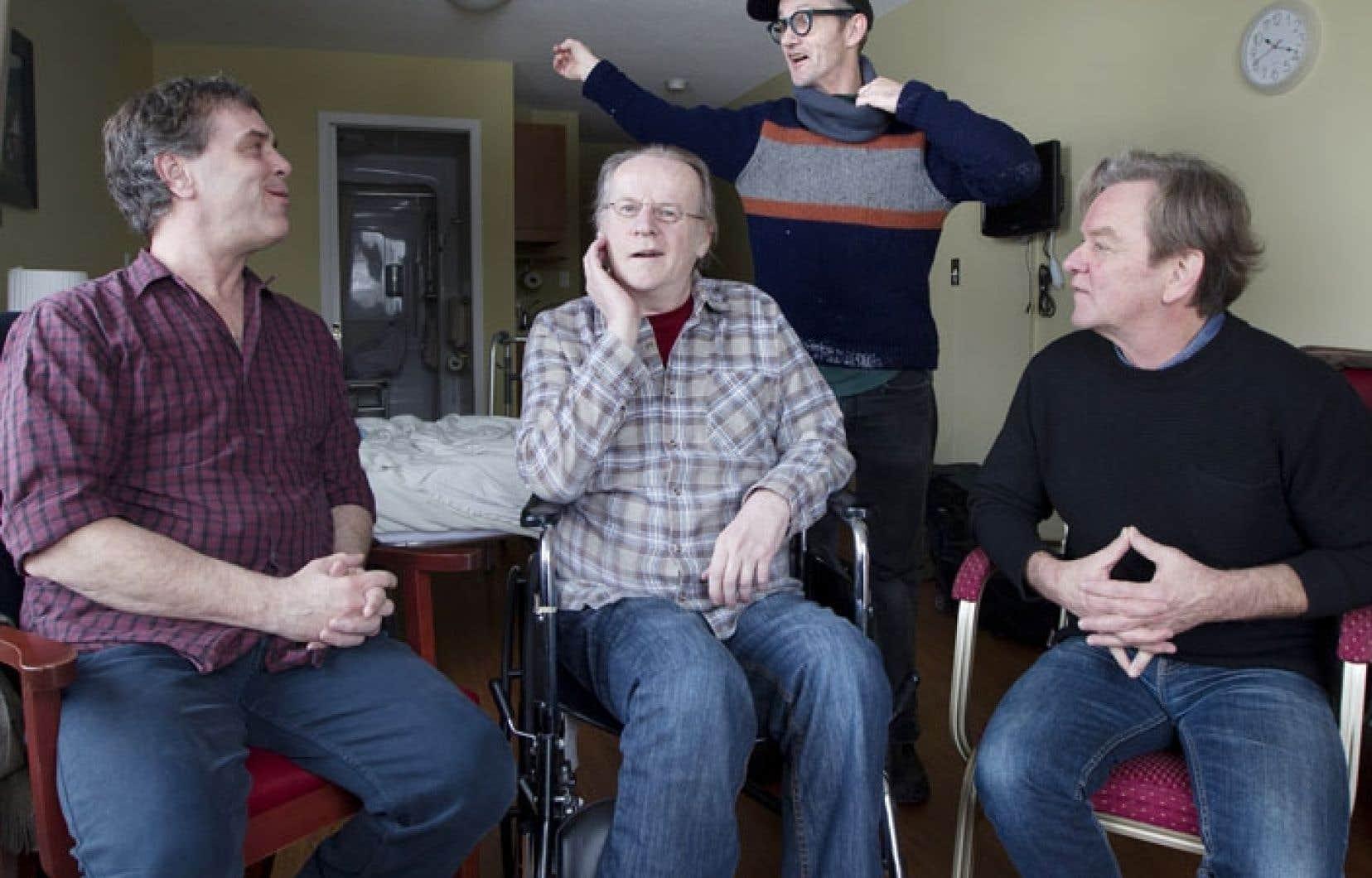 Michel Giroux, Pierre Goupil, Serge Lavoie et Rénald Bellemare parlent du film qui les a réunis.