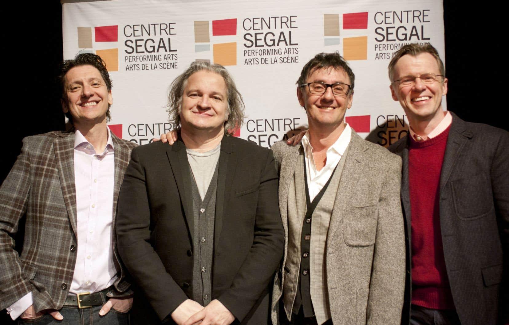 Neil Bartram, Daniel Bélanger, René Richard Cyr et Brian Hill