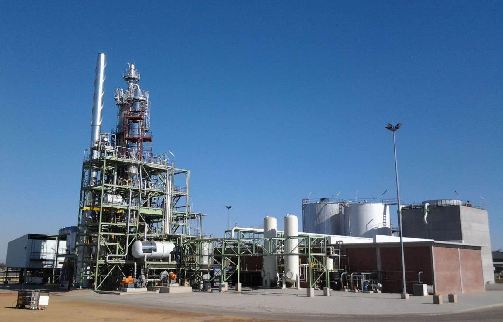 Une usine de captage du gaz carbonique de la société Cansolv en Afrique du Sud