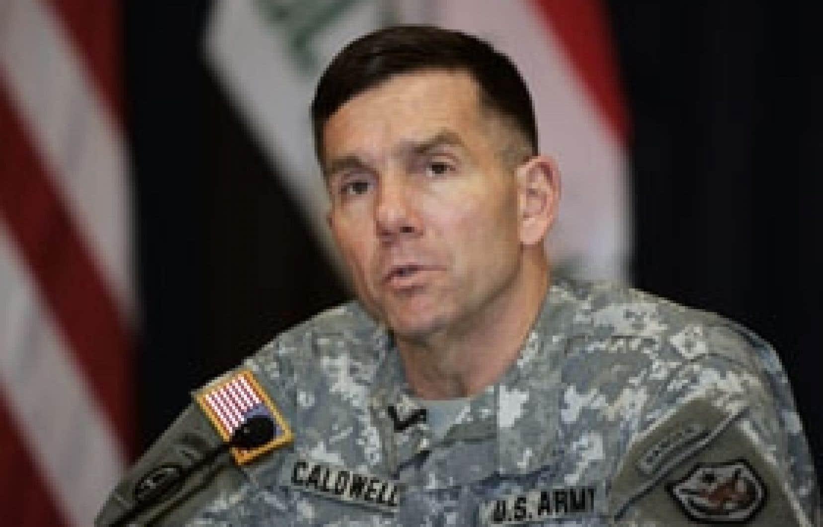 Le général américain William Caldwell a déclaré hier à Bagdad que l'offensive promise par le gouvernement irakien pour faire cesser les violences ne donnerait pas de résultats du jour au lendemain.