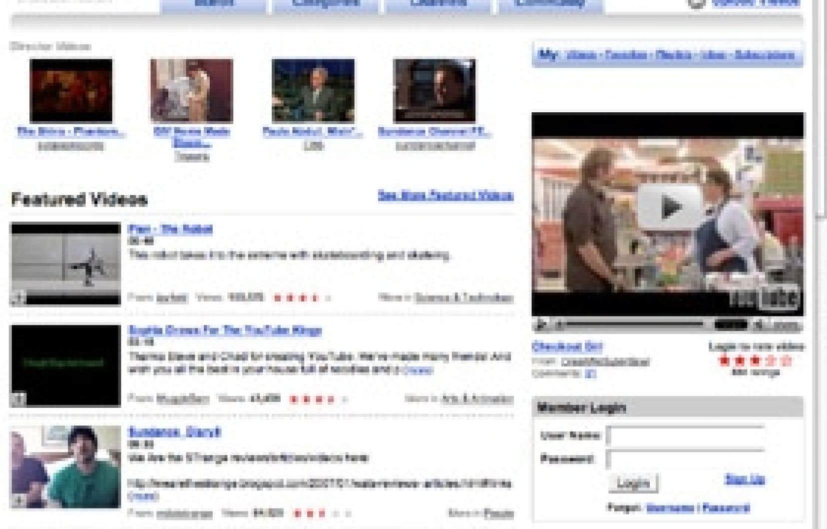 YouTube, un portail qui appartient à Google.