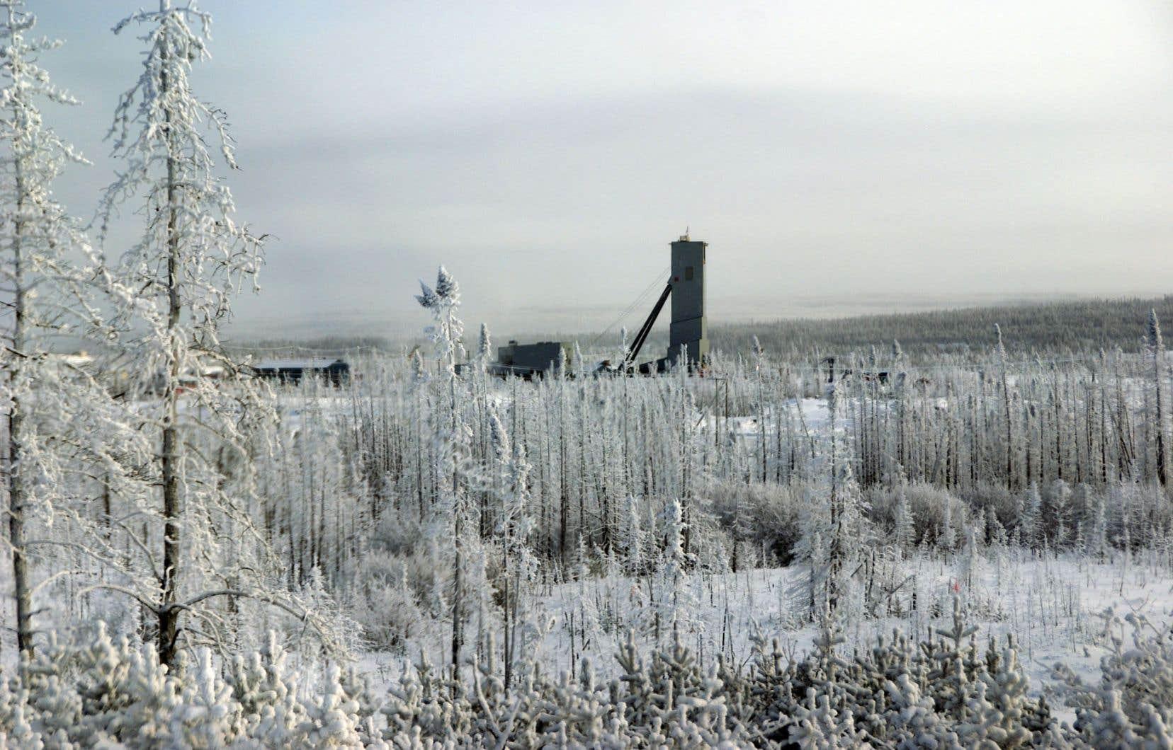 La mine Éléonore, à 350 kilomètres au nord de Chibougamau, devrait produire quatre millions d'onces d'or.