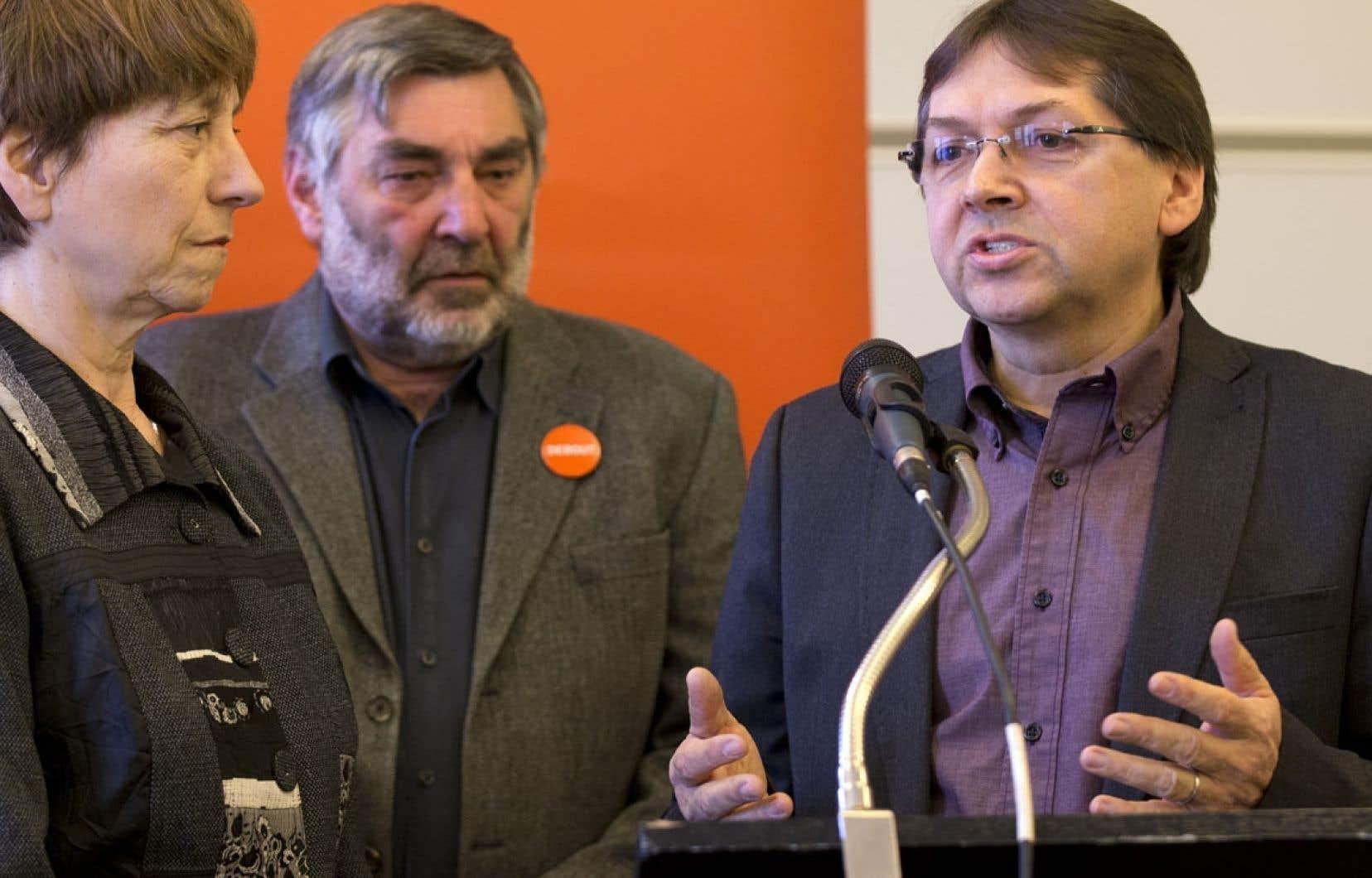 L'ex-candidat à la présidence de la FTQ Claude Généreux (à droite) sera aussi candidat pour QS.
