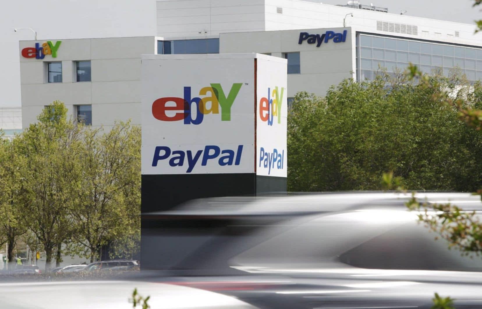 Les bureaux d'eBay et de PayPal en Californie