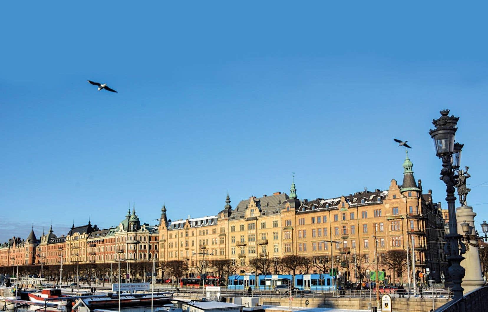 Un panorama du centre-ville de Stockholm.