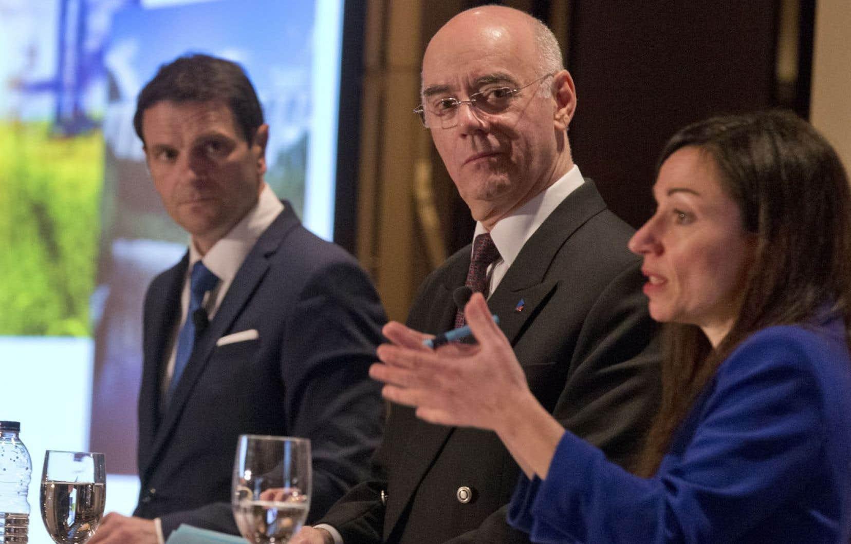 François Bonnardel (CAQ), Jacques Daoust (PLQ) et Martine Ouellet (PQ) ont croisé le fer à l'occasion d'un débat portant sur les ressources naturelles.