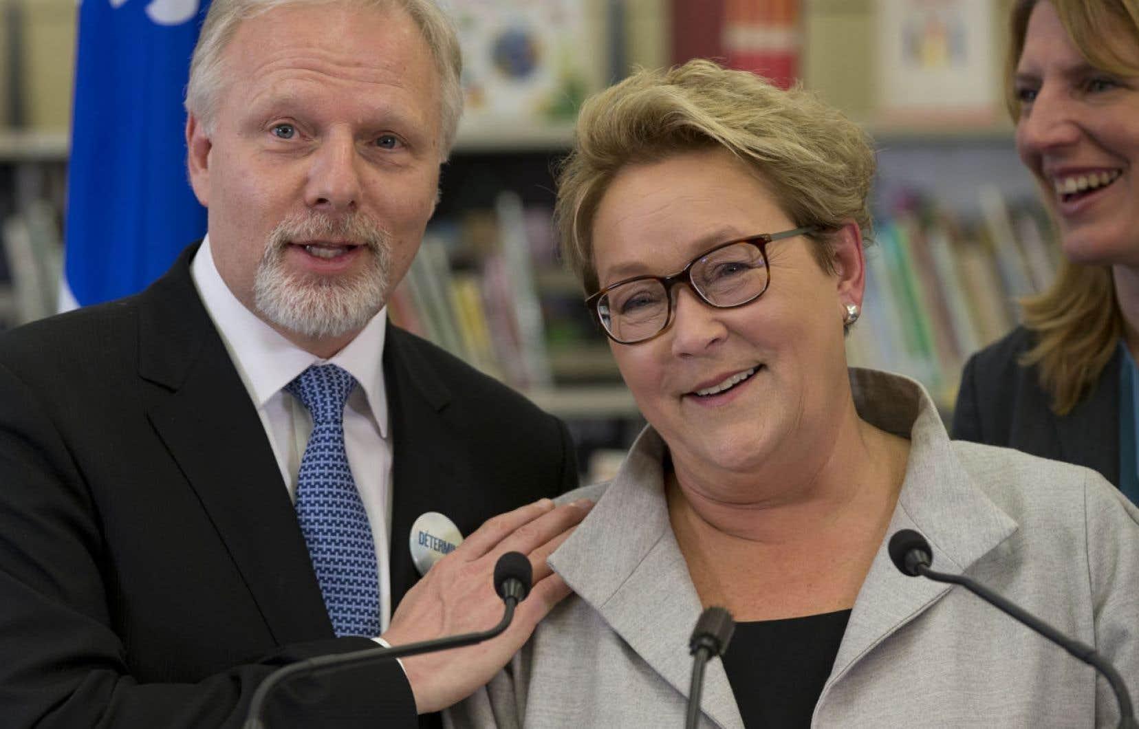 Jean-François Lisée a accompagné sa chef, Pauline Marois, lors d'une annonce concernant la Charte de la langue française.